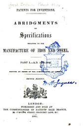 Patents for Inventions: A.D. 1620-1866