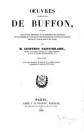 Oeuvres completes de Buffon, précédes d'une notice historique et de considérations générales sur le progrés et l'influence philosophique des sciences naturelles depuis cet auteur jusqu'a nos pours: Volume5
