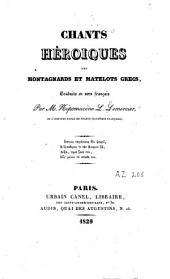 Chants héroïques des montagnards et matelots grecs