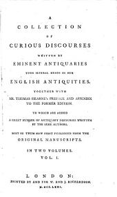 A Collection of Curious Discourses: Volume 1