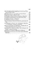 Généalogies de la famille de Montfort en Genevois et en Franche-Comté, et de la famille de Conzié: avec documents publiés et annotés