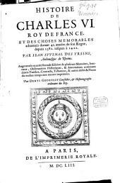 Histoire de Charles VI...