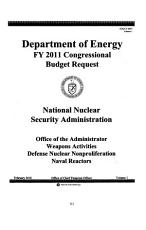 Energy and Water Development Appropriations for 2011  Dept  of Energy fiscal year 2011 justifications PDF