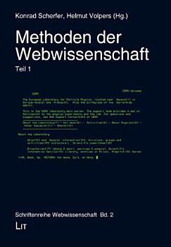 Methoden der Webwissenschaft  Teil 1 PDF