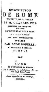 Description de Rome traduite de l'italien: Volume2