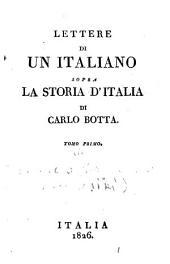 Lettere di un italiano sopra la Storia d'Italia di Carlo Botta