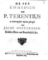De ses comedien van P. Terentius: Volume 1