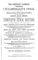 The American Farmer s Pictorial Cyclopedia of Live Stock     PDF
