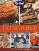 Mr  Food Test Kitchen Quick and Easy Comfort Cookbook Book