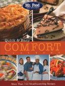 Mr  Food Test Kitchen Quick and Easy Comfort Cookbook