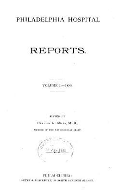 Philadelphia Hospital Reports PDF
