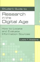 Student Guide to Research in the Digital Age PDF