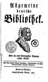 Allgemeine deutsche Bibliothek: Des ein und siebenzigsten Bandes erstes Stück - Des ein und siebenzigsten Bandes zweytes Stück, Band 71
