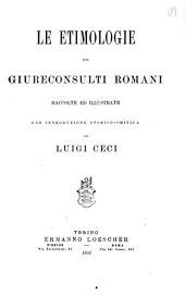 Le etimologie dei giureconsulti romani