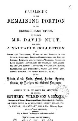 Catalogues of Items for Auction by Messrs  Sotheby  Wilkinson   Hodge  1850 1880 PDF