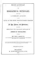 A Biographical Dictionary PDF