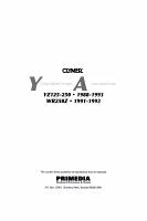 Clymer Yamaha YZ125 250  WR250Z  1988 1993 PDF