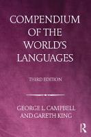 Compendium of the World s Languages PDF