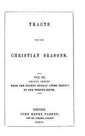 Tracts for the Christian Seasons: 2d Series, Volume 3