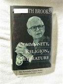 Community, Religion, and Literature
