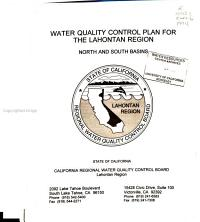 Water Quality Control Plan for the Lahontan Region PDF
