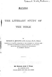 Syllabus: The Literary Study of the Bible ...