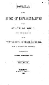 Journal of the House of Representatives ... General Assembly of Ohio ...: Volume 48