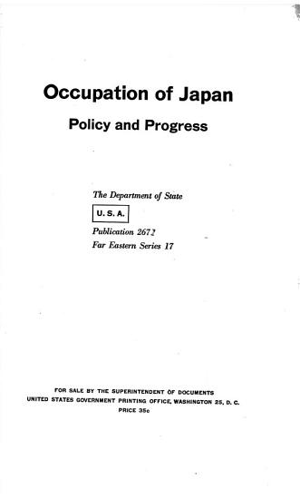 Occupation of Japan PDF