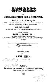 Annales de philosophie chrétienne: Volume36
