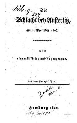 Die Schlacht bei Austerlitz im Jahre 1805 PDF