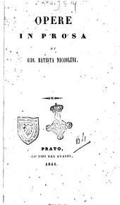Opere in prosa di Gio. Batista Niccolini