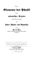 Die Elemente der Physik nach mathematischen Prinzipien PDF