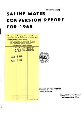Saline Water Conversion Report