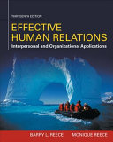 Effective Human Relations  Interpersonal And Organizational Applications PDF