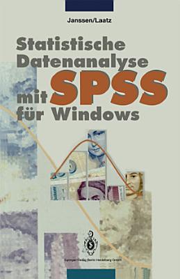 Statistische Datenanalyse mit SPSS f  r Windows PDF