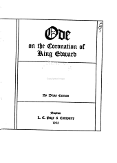 Ode on the Coronation of King Edward