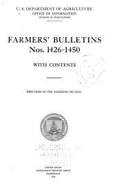 Farmers' Bulletin: Issues 1426-1450