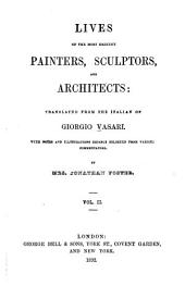 Lives of the Most Eminent Painters, Sculptors, and Architects: Volume 2