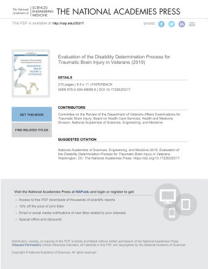 Evaluation of the Disability Determination Process for Traumatic Brain Injury in Veterans