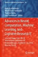 Advances in Neural Computation  Machine Learning  and Cognitive Research II PDF