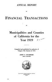 Annual Report of Financial Transactions Concerning Cities and Counties of Caifornia