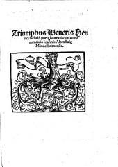Triumphus Veneris ¬Henrici ¬Bebelii ¬poete ¬laureati