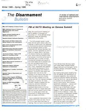 The Disarmament Bulletin