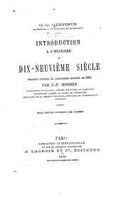 Introduction à l'histoire du dix-neuvième siècle
