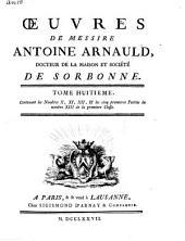 Œuvres de messire Antoine Arnauld: Volume7
