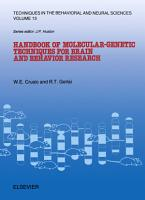 Handbook of Molecular Genetic Techniques for Brain and Behavior Research PDF