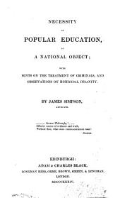 Necessity of popular education, as a national object