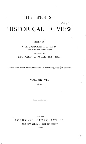 The English Historical Review PDF