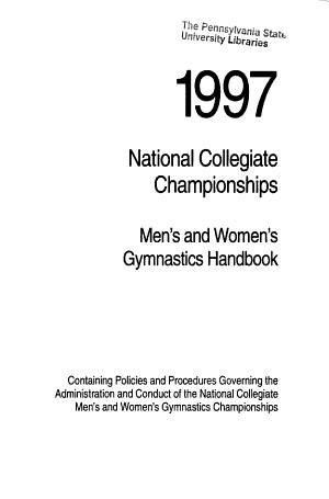 National Collegiate Championships PDF