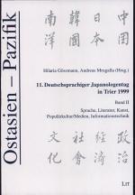 11. Deutschsprachiger Japanologentag in Trier 1999